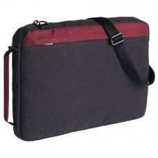 Конференц-сумка 2 в 1 twoFold, серый с бордовым