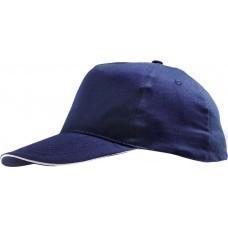 Бейсболка SUNNY, темно-синяя с белым
