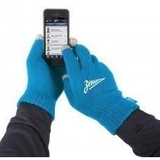 Перчатки для сенсорных экранов «Зенит», голубые
