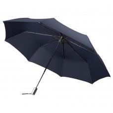 Складной зонт Alu Drop Golf, 3 сложения, автомат, синий