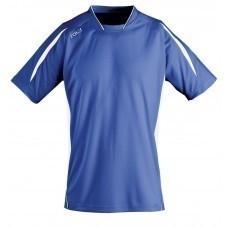Футболка спортивная MARACANA 140, ярко-синяя с белым