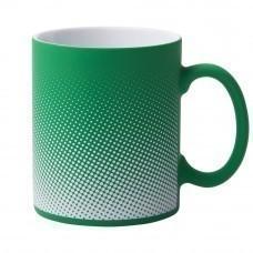 Кружка Dot с покрытием софт-тач и гравировкой, зеленая