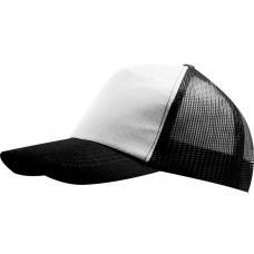 Бейсболка BULL, белая с черным