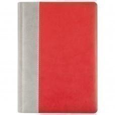 Ежедневник Norma, недатированный, серо-красный