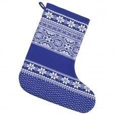 Новогодний носок «Скандик», синий (василек)