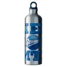 Бутылка для воды «Наше имя ЗЕНИТ», серебристая
