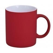 Кружка Promo c прорезиненным покрытием, красная