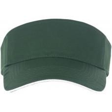 Козырек ACE, зеленый с белым