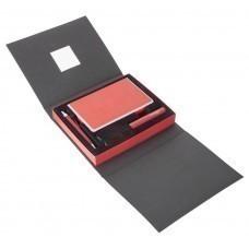 Набор Plus, красный: аккумулятор, ежедневник, ручка