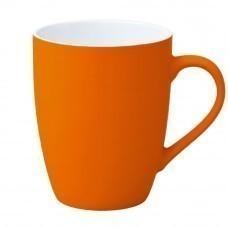 Кружка Good Morning c прорезиненным покрытием, оранжевая