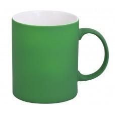 Кружка Promo c прорезиненным покрытием, зеленая