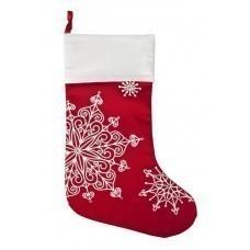 Новогодний носок «Снежинки», красный