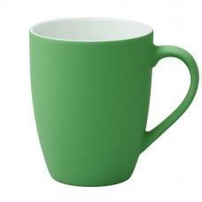 Кружка Good Morning c прорезиненным покрытием, зеленая