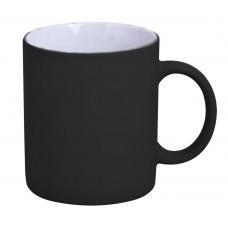Кружка Promo c прорезиненным покрытием, черная