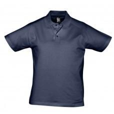 Рубашка поло мужская Prescott men 170, темно-синяя (кобальт)