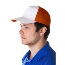 Бейсболка Unit Pro, белая с оранжевым