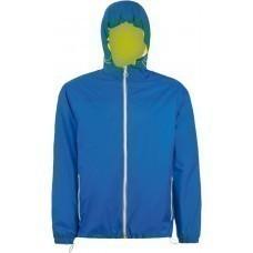 Ветровка SKATE, ярко-синяя с неоново-желтым