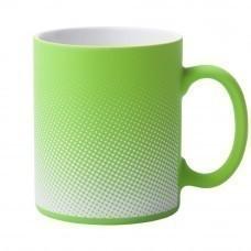 Кружка Dot с покрытием софт-тач и гравировкой, зеленое яблоко